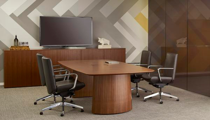 Gunlockes Briefing Collection Offers Interactive Solutions For - Small conference table and chairs