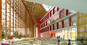 Rendering of Choice Schools, a new K-12 school in India
