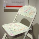 This chair commemorates the first product from KI, a folding chair, in 1941.