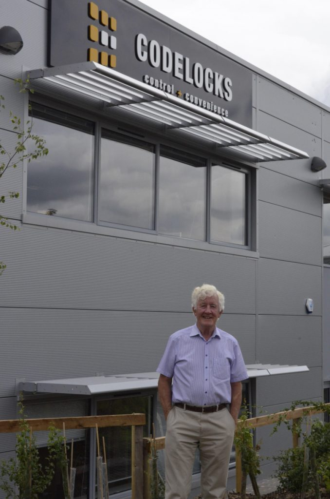 Codelocks founder and chairman at its new head office