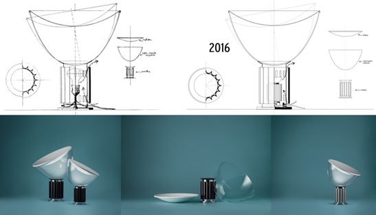 Floss new taccia 58 years in the making officeinsight taccia led 2016 the new version of floss iconic taccia table lamp designed by mozeypictures Gallery
