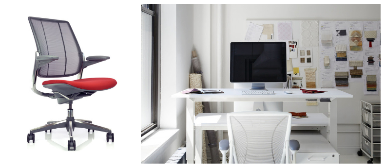 Humanscale.Diffrient Smart task chair and Float table