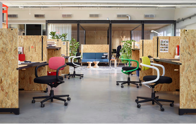 Vitra.HACK table system by Konstantin Grcic, Allstar chair by Konstantin Grcic