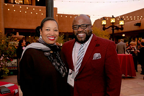 Cheryl Durst of IIDA and George Bandy of Mohawk