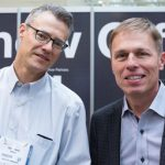 Teknion's Mark Harris, Manager, Media Relations, Design and Marketing, and Jeff Ball, Director, Corporate Marketing.