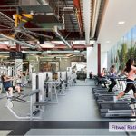 The fitness center at the Alexandria Center for Life Science, 10300 Campus Point Drive, San Diego. Photo: courtesy of Alexandria Real Estate Equities, Inc.