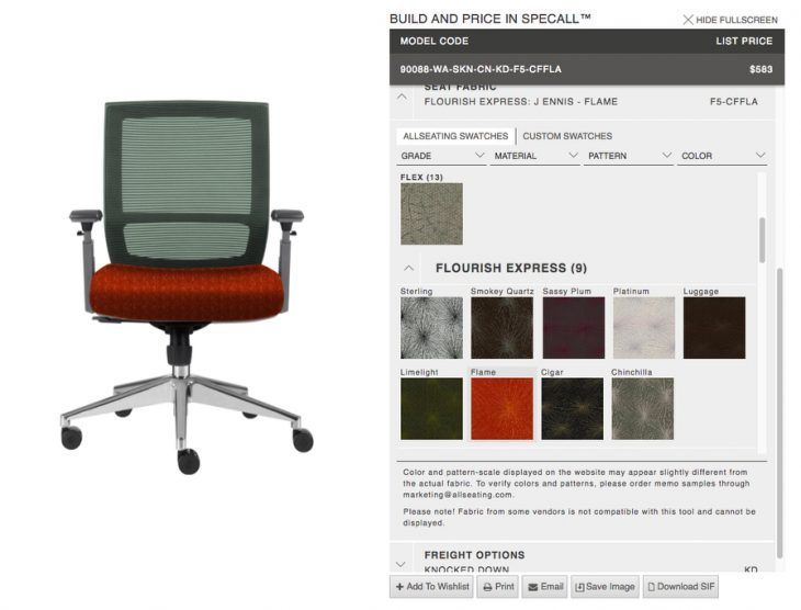 Allseating Launches SpecAll: An Online Tool for Customization