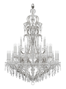 Preciosa euroluce hall 15 brera corso garibaldi 2 officeinsight maria theresa an iconic bohemian metal and glass arm chandelier prevailing in its current and timeless shape is proof to josef palmes immense genius aloadofball Gallery