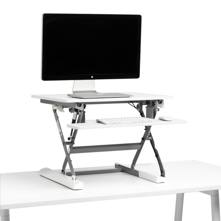 stand htm dual riser sit monitor rocelco audio furniture recording with mount to desk adjustable lg pro