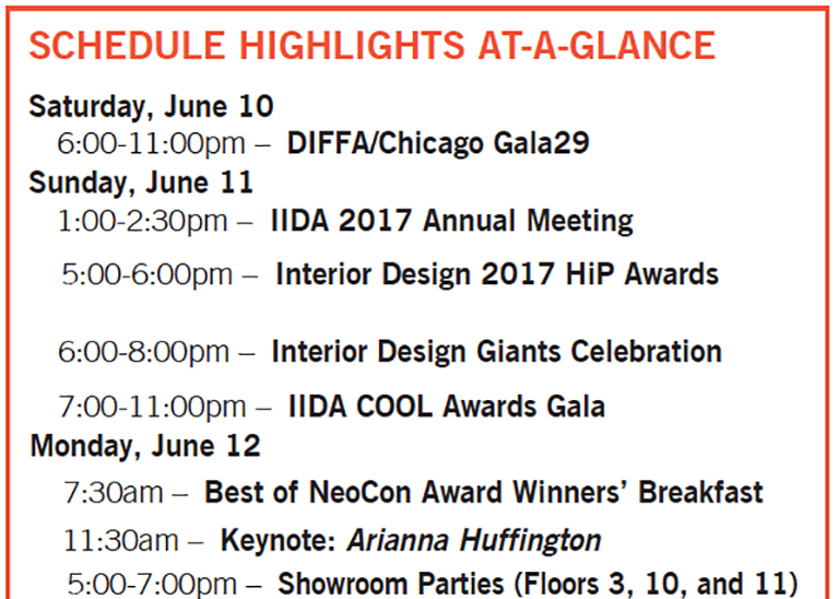 NeoCon 2017 Preview Part II Events Education