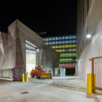 The Manhattan District 1/2/5 Garage and Spring Street Salt Shed in Manhattan, designed by Dattner Architects and WXY, two New York firms. Photos: Albert Vecerka / Esto