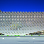 The Broad Museum in Los Angeles, Grand Avenue facade. Photo: Iwan Baan