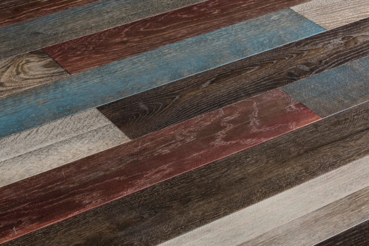 Red White Amp Blue Hardwood Floor Planks Officeinsight