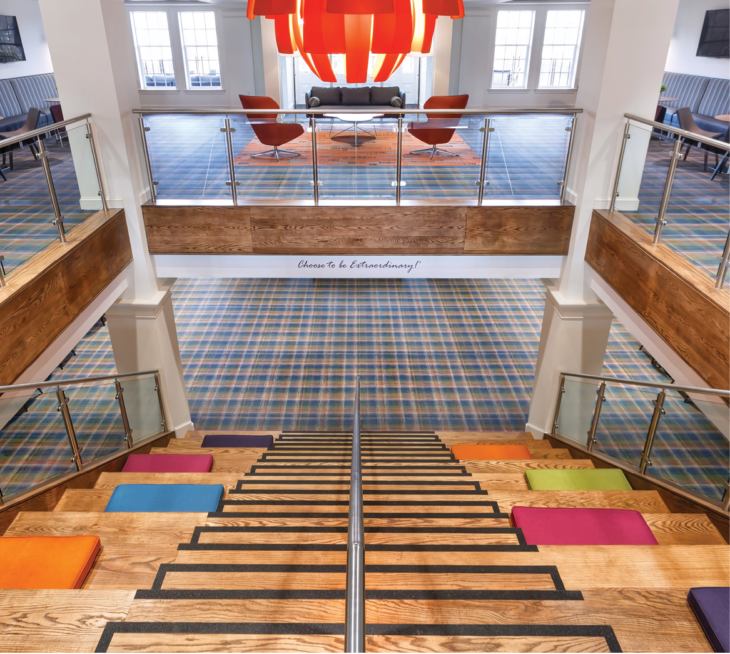 With Flying Colors Chilewich Flooring On Campus