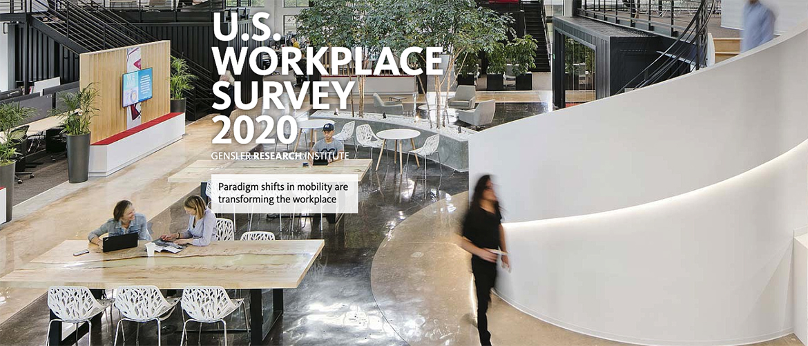 Workplace Effectiveness Has Declined, People in Unassigned Seating are Struggling the Most / Gensler's 2020 U.S. Workplace Survey